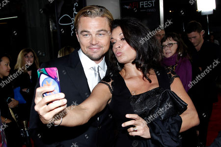 """Leonardo DiCaprio, Dina Eastwood Cast member Leonardo DiCaprio, left, and Dina Eastwood pose together at the premiere of """"J. Edgar"""" during the Opening Night Gala of AFI FEST 2011 in Los Angeles, . """"J. Edgar"""" opens in theaters Nov. 9, 2011"""