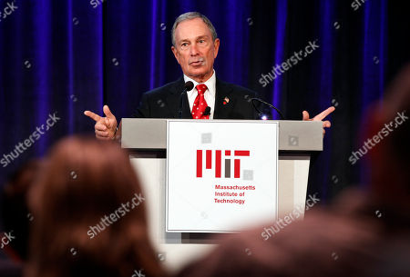Michael Bloomberg New York Mayor Michael Bloomberg addresses an audience during an event hosted by Massachusetts Institute of Technology's MIT Collaborative Initiatives program on the schools campus, in Cambridge, Mass., . The program, which addressed social issues, also included former chairman of the Joint Chiefs of Staff, retired U.S. Navy Adm. Michael Mullen
