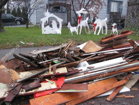 Editorial image of Flooded Homes Christmas, West Pittston, USA
