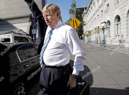 Theodore Olson Attorney Theodore Olson arrives at a federal courthouse in San Francisco, . A federal appeals court plans to hear oral arguments Thursday on whether a lower court judge who ultimately struck down voter-approved same-sex marriage Proposition 8 should have recused himself because he was in a same-sex relationship. The three-judge panel of the 9th U.S. Circuit Court of Appeals also will weigh if it should unseal video recordings of last year's landmark trial on the voter-approved ban's constitutionality