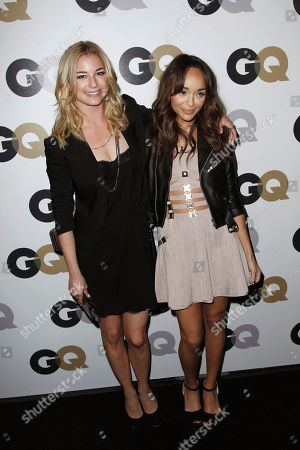 """Emily Van Camp, Ashley Madekwe Emily Van Camp, left, and Ashley Madekwe arrive at the 16th annual GQ """"Men of the Year"""" party in Los Angeles"""