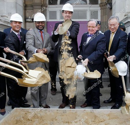 Vincent C. Gray, Jim Graham, Kwame Brown, Sedrick Muhammad, Allen Y. Lew Washington Mayor Vincent C. Gray, center, with from left, ANC Commissioner Sedrick Muhammad, DC Council Chair Kwame Brown, DC Ward 1 Council member Jim Graham, and DC City Administrator Allen Y. Lew, take part in a groundbreaking ceremony for the Franics L. Cardozo HS Modernization project, Monday, Nov., 14, 2011 in Washington. Cardozo originally known as Central HS, was designed by William B. Ittner, and was constructed in 1914-1916, and is listed in the National Register of Historic Places