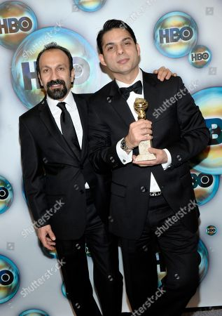 Asghar Farhadi, Peyman Moaadi Asghar Farhadi, left, and Peyman Moaadi arrive at the 2012 HBO Golden Globe After Party at the Beverly Hilton in Los Angeles. on