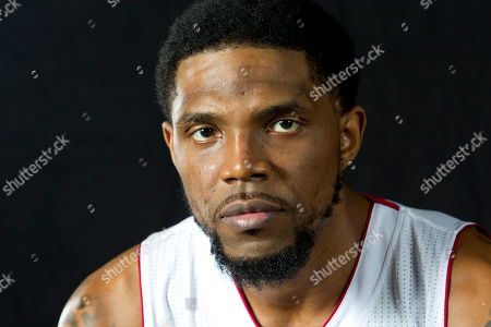 Udonis Haslem Miami Heat player Udonis Haslem poses for photos during the team's media day, in Miami