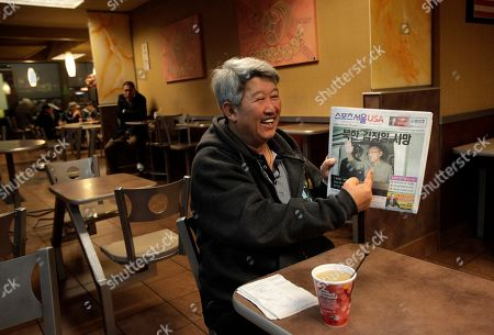 Steve Park Korean immigrant Steve Park, 57, points to a photo of Kim Jong Il printed on a newspaper while talking to his friend at a McDonald's restaurant in Los Angeles, . Kim Jong Il, North Korea's mercurial and enigmatic leader, died after 17 years in power, of heart failure Saturday at age 69, while carrying out official duties on a train trip