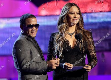 "Hector Acosta, Myriam Hernandez Hector ""El Torito"" Acosta, left, and Myriam Hernandez are seen onstage at the 12th Annual Latin Grammy Awards on in Las Vegas"