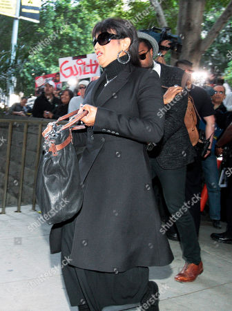 Stock Picture of Michael Jackson's sister Rebbie Jackson arrives at the courthouse after it was announced that jurors had reached a verdict in the involuntary manslaughter trial of Dr. Conrad Murray, Michael Jackson's physician when the pop star died in 2009, at the Criminal Justice Center in downtown Los Angeles