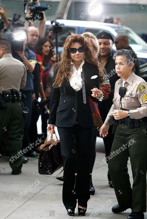 Michael Jackson's sister LaToya Jackson arrives for the sentencing of Conrad Murray, convicted of involuntary manslaughter in the death of pop star Michael Jackson, at the Los Angeles Criminal Justice Center