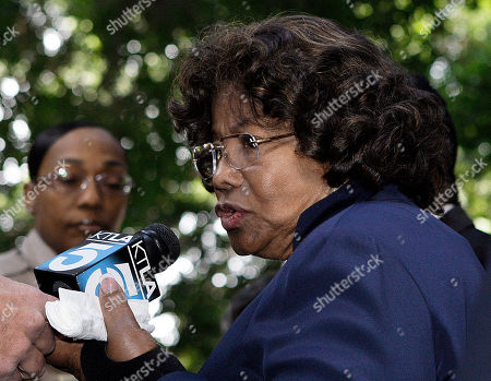 "Michael Jackson's mother Katherine Jackson talks with reporters as she leaves the Los Angeles Criminal Justice Center, in Los Angeles, . Dr. Conrad Murray, the doctor convicted in the overdose death of singer Michael Jackson, ay was sentenced to the maximum four years behind bars Tuesday by a judge who denounced him as a reckless physician whose actions were a ""disgrace to the medical profession"