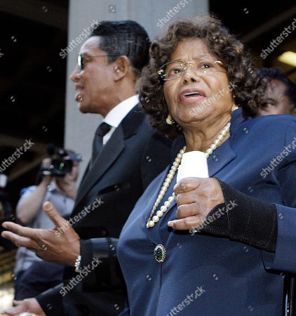 Michael Jackson's mother Katherine Jackson and brother Jermaine Jackson leave after the sentencing of Conrad Murray, convicted of involuntary manslaughter in the death of pop star Michael Jackson, at the Los Angeles Criminal Justice Center . Murray was sentenced to four years in prison, the maximum allowable penalty