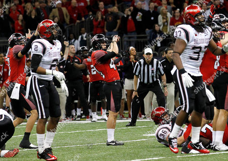 Brett Baer Louisiana-Lafayette kicker Brett Baer (40) watches his 50-yard field goal go through the uprights at the end of regulation to beat San Diego State in the New Orleans Bowl NCAA college football game in New Orleans, . Louisiana-Lafayette won 32-30