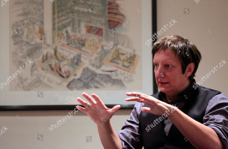 "Robert Lepage Music director Robert Lepage speaks during a break in rehearsal of Wagner's ""Ring at the Metropolitan Opera in New York. ""Ring"" is the most expensive production ever seen on the Met stage, costing more than $16 million"