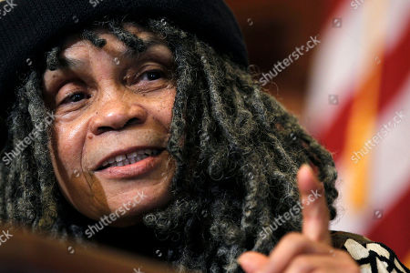 Sonia Sanchez Philadelphia poet laureate Sonia Sanchez gestures as she makes remarks during a news conference, in Philadelphia. Mayor Michael Nutter named 77-year-old Sanchez, a noted poet and teacher, to the post Thursday morning