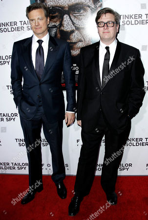"Colin Firth, Tomas Alfredson Colin Firth, left, and director Tomas Alfredson pose together at the premiere of ""Tinker, Tailor, Soldier, Spy"" in Los Angeles, . ""Tinker, Tailor, Soldier, Spy"" opens in theaters Dec. 9, 2011"