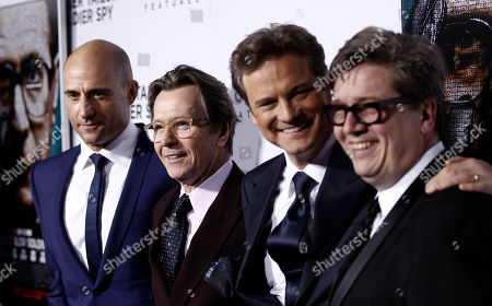 "Gary Oldman, Colin Firth, Mark Strong, Tomas Alfredson From left, Mark Strong, Gary Oldman, Colin Firth, and director Tomas Alfredson pose together at the premiere of ""Tinker, Tailor, Soldier, Spy"" in Los Angeles, . ""Tinker, Tailor, Soldier, Spy"" opens in theaters Dec. 9, 2011"