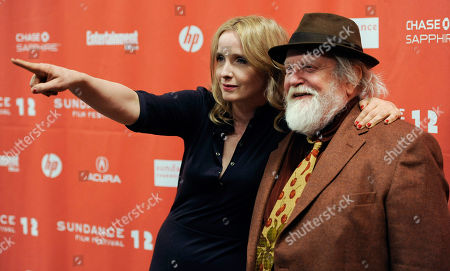 """Stock Image of Albert Delpy, Julie Delpy Julie Delpy, a cast member, co-writer and director of """"2 Days in New York,"""" poses with her father Albert, a cast member in the film, at the premiere of the film at the Sundance Film Festival in Park City, Utah"""