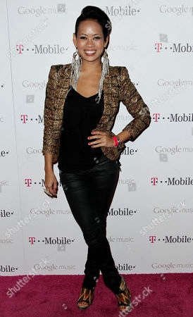 Stock Photo of Anya Ayoung-Chee Designer Anya Ayoung-Chee arrives at the Google and T-Mobile party celebrating the launch of Google Music, in Los Angeles