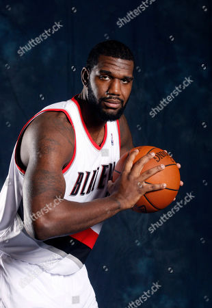 Stock Image of Greg Oden Portland Trail Blazers' Greg Oden poses for his Trail Blazers' media day photo, in Portland, Ore