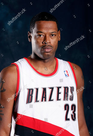 Stock Photo of Marcus Camby Portland Trail Blazers' Marcus Camby poses for his Trail Blazers' media day photo, in Portland, Ore