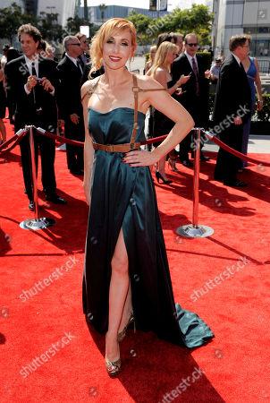 Kari Byron Kari Byron arrives at the Primetime Creative Arts Emmy Awards on in Los Angeles