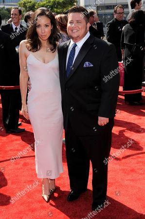 Chaz Bono, Jennifer Elia Chaz Bono, right, and Jennifer Elia arrive at the at the Primetime Creative Arts Emmy Awards on in Los Angeles