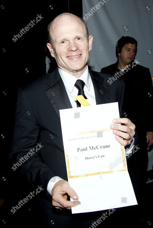 "Paul McCrane Paul McCrane is seen backstage after accepting the award for outstanding guest actor in a drama series for ""Harry's Law"" at the Primetime Creative Arts Emmy Awards on in Los Angeles"