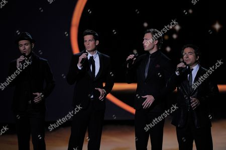 The Canadian Tenors perform onstage at the Academy of Television Arts & Sciences at the 63rd Primetime Emmy Awards on in Los Angeles
