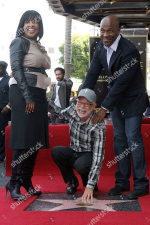 Stock Photo of Bebe, left, Jim Bakker, and CeCe Winans after Bebe and Cece Winans received Star Walk of Fame 2,452nd Star on the Hollywood