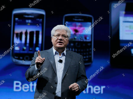 Mike Lazaridis Mike Lazaridis, co-CEO of Research in Motion delivers the keynote address at the Blackberry DevCon Americas conference in San Francisco