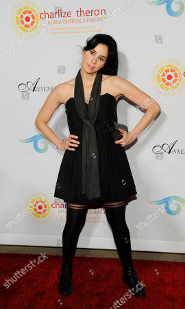 """Sarah Silverman Comedian Sarah Silverman poses at a cocktail party featuring the world premiere of the celebrity photo series, """"REACH: 24 portraits by Randall Slavin to benefit the Charlize Theron Africa Outreach Project,"""", at The Annenberg Space for Photography in Los Angeles. The CTAOP is committed to reducing the prevalence of HIV/AIDS and sexual violence among African youth"""
