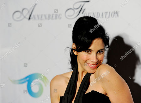 """Stock Picture of Sarah Silverman Comedian Sarah Silverman poses at a cocktail party featuring the world premiere of the celebrity photo series, """"REACH: 24 portraits by Randall Slavin to benefit the Charlize Theron Africa Outreach Project,"""", at The Annenberg Space for Photography in Los Angeles. The CTAOP is committed to reducing the prevalence of HIV/AIDS and sexual violence among African youth"""