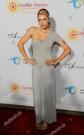 """Sophie Monk Actress Sophie Monk poses at a cocktail party featuring the world premiere of the celebrity photo series, """"REACH: 24 portraits by Randall Slavin to benefit the Charlize Theron Africa Outreach Project,"""", at The Annenberg Space for Photography in Los Angeles. The CTAOP is committed to reducing the prevalence of HIV/AIDS and sexual violence among African youth"""