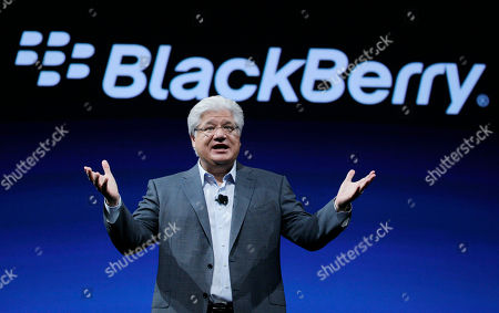 Stock Image of Mike Lazaridis Mike Lazaridis, co-CEO of Research in Motion gestures at the end of his keynote address to the BlackBerry DevCon Americas conference in San Francisco. Research In Motion Ltd. reports quarterly financial results, after the market close