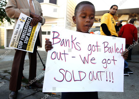 Angel Perry Angel Perry, 2, holds up a sign during a rally to re-occupy a home in San Francisco, after resident Carolyn Gage was evicted in January, 2011. Perry's home was foreclosed on and is homeless