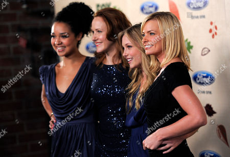 "Stock Photo of Jaime Pressly, Aisha Dee, Kristi Lauren, Katie Finneran Jaime Pressly, right, a cast member in the television series ""I Hate My Teenage Daughter,"" poses with fellow cast members, from left, Aisha Dee, Katie Finneran and Kristi Lauren at the 7th Annual FOX Fall Eco-Casino Party in Culver City, Calif., . The event raised money and awareness for environmental causes while celebrating the launch of the FOX fall television season"