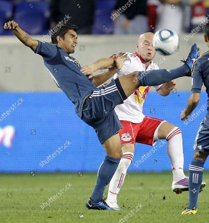 Editorial image of Galaxy Red Bulls Soccer, Harrison, USA