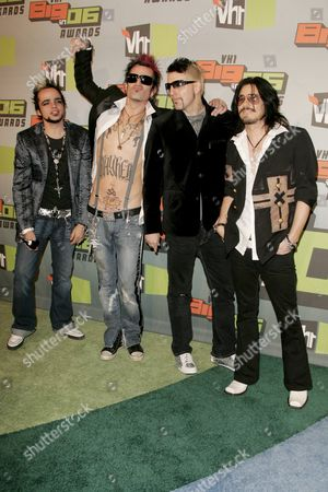 Tommy Lee, Johnny Colt, Lukas Rossi and Gilby Clarke of Rock Sta