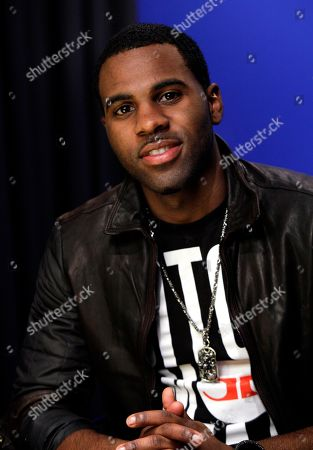 """Jason Derulo Singer Jason Derulo poses for photos in New York. Derulo's latest release """"Future History"""" includes collaborations with RedOne, The-Dream, Claude Kelly and DJ Frank E. It debuted at No. 29 on the Billboard charts last month"""