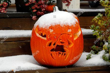 Editorial image of October Snow, Abington, USA