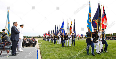 Leon Panetta, James Winnefeld Defense Secretary Leon Panetta, left, and Joint Chiefs Vice Chairman Adm. James Winnefeld Jr., second left, review the troops during a Defense Department ceremony commemorating the National POW/MIA Recognition Day, at the Pentagon