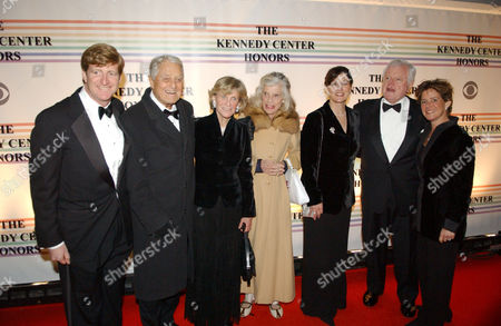 Kennedy family members arriving at the event. (L-R) Congressman Patrick Kennedy, Robert Sargent Shriver Jnr, Jean Kennedy, Eunice Shriver, Mrs.Ted Kennedy, Senator Ted Kennedy and guest