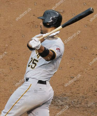 Derrek Lee Pittsburgh Pirates' Derrek Lee follows through on a grand slam during the ninth inning of a baseball game against the Chicago Cubs, in Chicago. The Pirates won 7-5