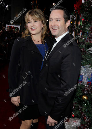 """Tom Lennon, Jenny Robertson Tom Lennon, right, and Jenny Robertson arrive at the premiere of """"A Very Harold and Kumar 3D Christmas"""" in Los Angeles, . """"A Very Harold and Kumar 3D Christmas"""" opens in theaters Nov. 4, 2011"""