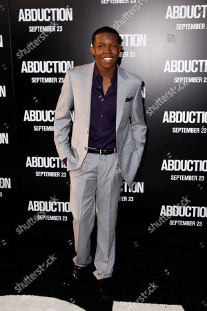 """Denzel Whitaker Cast member Denzel Whitaker arrives at the premiere of """"Abduction"""" in Los Angeles, . """"Abduction"""" opens in theaters Sept. 23, 2011"""
