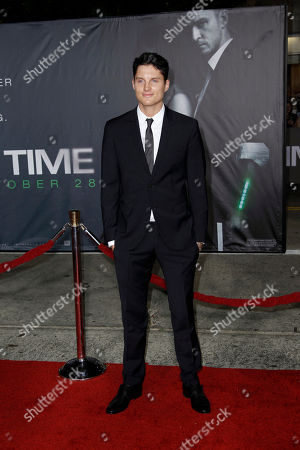 "Stock Picture of Toby Hemingway Cast member Toby Hemingway arrives at the premiere of ""In Time"" in Los Angeles, . ""In Time"" opens in theaters Oct. 28, 2011"