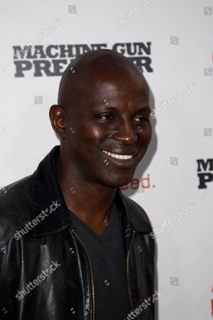 """Stock Picture of Souleymane Sy Savane Souleymane Sy Savane arrives at the premiere of """"Machine Gun Preacher"""" in Beverly Hills, Calif., . """"Machine Gun Preacher"""" opens in theaters Sept. 23, 2011"""