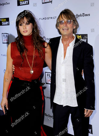 """Bruce Robinson, Lily Robinson Director Bruce Robinson, right, and his daughter, Lily, arrive at the premiere of """"The Rum Diary"""" in Los Angeles, . """"The Rum Diary"""" opens in theaters Oct. 28, 2011"""