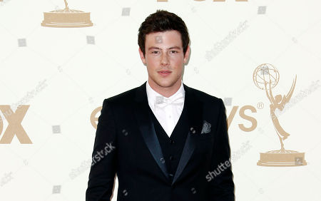 """Stock Photo of Corey Monteith Cory Monteith arrives at the 63rd Primetime Emmy Awards, in Los Angeles. """"Glee"""" launched its new season, with the first episode of a two-part Beatles tribute. Lea Michele's character, Rachel, looks at a cell phone photo that includes a group shot with Monteith's character, Finn, in it. She sings the Beatles' """"Yesterday"""" in the scene"""