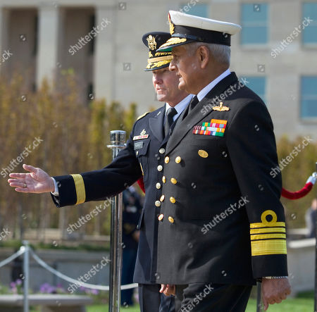 Martin Dempsey, Nirmal Verma Joint Chiefs Chairman Gen. Martin Dempsey, left, welcomes India's Chairman of the Chiefs of Staff Committee Adm. Nirmal Verma during a full honors arrival ceremony at the Pentagon