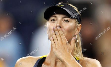 Maria Sharapova Maria Sharapova, of Russia, blows a kiss to the crowd after beating Anastasiya Yakimova, of Belarus, 6-1, 6-1 during the U.S. Open tennis tournament in New York, early Thursday morning